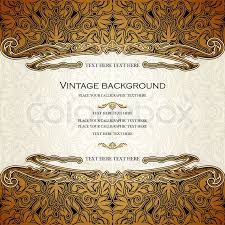 vintage vector card design, royal gold ornament, luxury border Wedding Invitation Page Borders luxury border, background, page for text, victorian style, rich element for wedding decoration and invitation design stock vector colourbox Floral Border