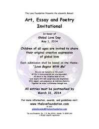 art essay and poetry invitational the love foundation global love day flyer 2014 art essay poetry 2
