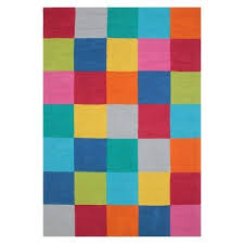 color block hand tufted 100 cotton area rug multicolor threshold color block area rug