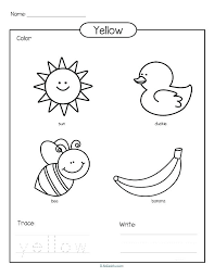 coloring pages colors coloring pages for preschool yellow erfly printable preschoolers best of color trace