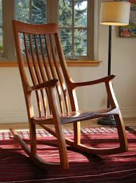 Furniture Natural Wood Rocking Chair That Takes Also Furniture
