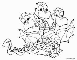 3 Head Dragon Coloring Pages For Kids Printable Free Coloring