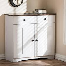 Hd Supply Kitchen Cabinets Baxton Studio Lauren Contemporary 3042 In H X 312 In W White