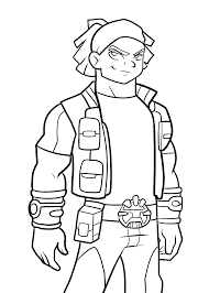 Boomer From Redakai Anime Coloring Pages