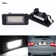 Bmw X5 License Plate Light Replacement Us 7 7 33 Off Pure White 1pair 18smd Error Free Led License Plate Lamp Number Plate Light For Bmw E70 X5 E71 E72 X6 In Signal Lamp From Automobiles