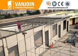 100mm anti earthquake precast concrete wall panels lightweight
