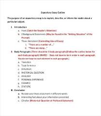 Extended Essay Outline Examples Outline Of Essay Format Digiart