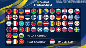 PES 2020 UEFA Euro 2020 DLC Released - Not Many New Kits - Footy Headlines