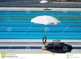 olympic swimming pool lanes. Outdoor Olympic Swimming Pool With Lanes For Races And 2 Umbrellas Per Side The Lifeguards Stock Image - Of Swim, Swimming: 103376457 T