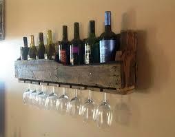 rustic diy wine glass rack