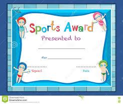 Stock Illustration Certificate Template Kids Certificate Templates