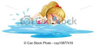 girl swimming clipart. Contemporary Girl A Young Girl Swimming  Csp13877419 With Girl Swimming Clipart I