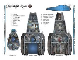 SciFi Spaceship Maps  Creative Commons Licensed Maps  Paratime Spaceship Floor Plan