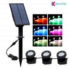 us 30 99 40 off khlitec 3 submersible led rgb underwater lights ip68 waterproof solar pond lights for swimming pool fountains fishing ponds lamp in