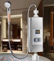 Elektrikli ısıtıcı SU ISITICI Mutfak banyo duş anında tankless ısıtma su  duvara monte Shower System
