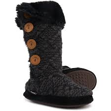 Mukluks Slipper Boots Size Chart Muk Luks Black Malena Tall Slippers For Women