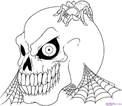 Small Picture Coloring Download Spooky Halloween Coloring Pages Printable