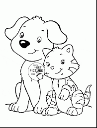 Small Picture superb cartoon dog and cat coloring pages with dog and cat