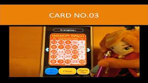 tsum tsum mission bingo card 3 horizontal bingo gameplay mission 23