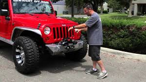 genright jeep jk bumpers and warn zeon winch