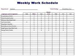 weekly syllabus template weekly work schedule template free layout format