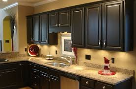 black painted kitchen cabinets ideas full size cabinet refinishing wooden with grey countertops and steel sink