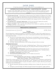 Resumes For Educators Reference Entry Level Assistant Principal