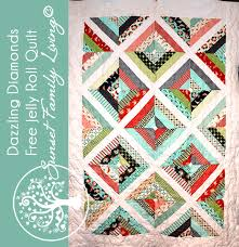 Dazzling Diamonds Strip Quilt | Free Jelly Roll Quilt Pattern ... & Dazzling Diamonds Free Jelly Roll Quilt Pattern from Sunset Family Living Adamdwight.com