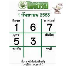 หวยไทยรัฐ 1/9/63 เลขเด่นของแท้งวดนี้ จากหมอไก่ พ.พา