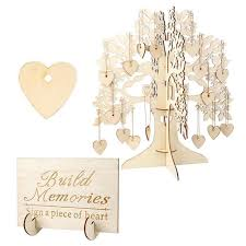 photo guest sign in book wooden hearts pendant drop guest book tree wedding guest book tree
