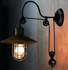 gooseneck wall light industrial adjule pulley sconce lamp fixture metal cage nz gooseneck wall light