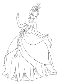 Picture Princess Tiana Coloring Pages 34 With Additional Coloring
