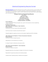 Sample Of Resume For Electrical Engineer Electric Engineer