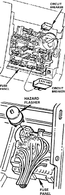 mustang fuse wiring diagrams page  89 mustang hazzard flasher and fuse
