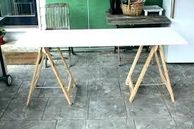 sawhorse table legs plans desk