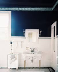 Dark Blue Bathroom Navy Blue Bathroom Accessories Dark Gray Tile Accent Wall