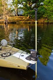 the power pole micro anchor installed on a hobie pro angler