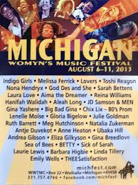 In 1976, lisa vogel, along with sister kristie vogel and friend mary kindig,13 founded the michigan womyn's music festival after attending an indoor festival of women's music in boston the year before. Michfest A Celebration By Graham Linehan The Glinner Update