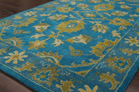 more views persian oriental traditional yellow fuschia turquoise hand tufted area rug wool