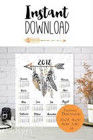 2018 boho calendar able large bohemian calendar for the wall arrows and feathers stylish