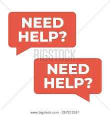 Need Help Sign Vector Photo Free Trial Bigstock