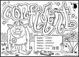 moody monsters multilingual coloring book by graffiti diplomacy confident graffiti
