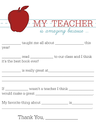 all about my teacher writing activity parents com