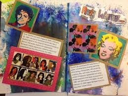 gcse art and design year 10 por culture andy warhol research page sketchbook