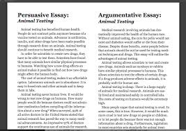argumentative text from a persuasive text what is the difference between persuasive and argumentative