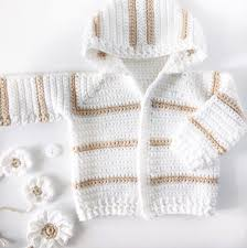 Crochet Baby Sweater Pattern Beauteous Single Crochet Baby Sweater