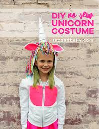 easy diy unicorn costume using items you already have in your craft closet tazandbelly
