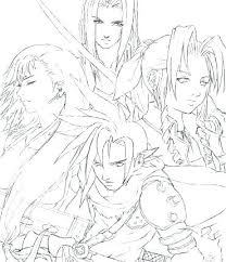 Final Fantasy 8 Coloring Pages Coloring Source Kids