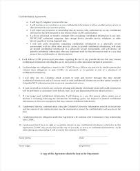 Employee Confidentiality Agreement 8 Sample Employee Confidentiality Agreements Sample Templates ...