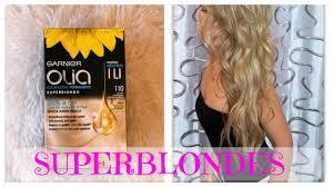 Blonde From A Box Hair Dye Garnier Olia 110 Super Blondes Review